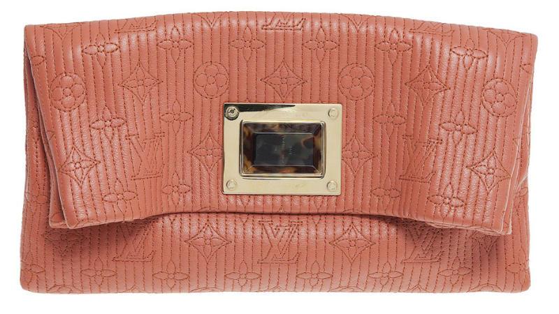 Louis Vuitton Orange Monogram Jacquard Limited Edition Altair Clutch