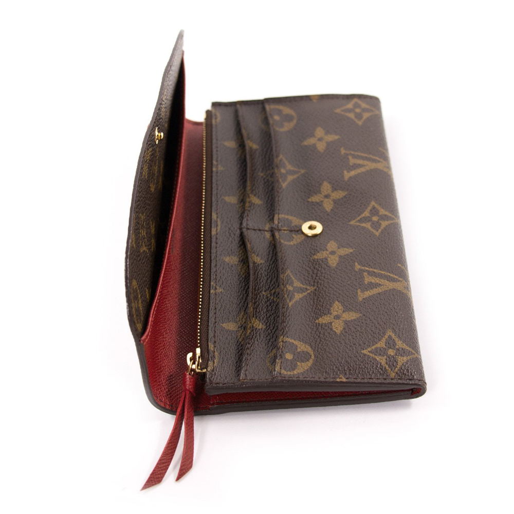 Louis Vuitton Canvas Emilie Continental Wallet