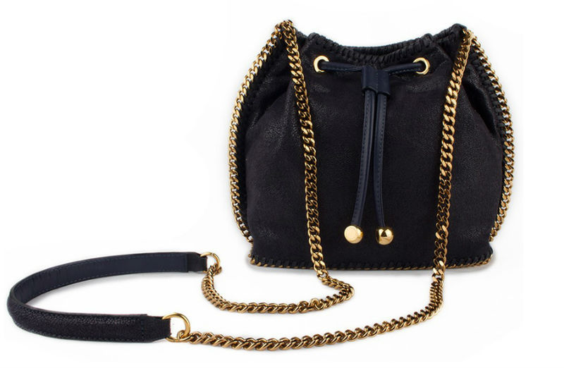 Stella Mccartney Black Bucket Bag