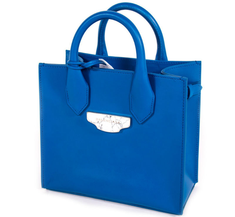 Balenciaga Blue Mini All Afternoon Tote Handbag