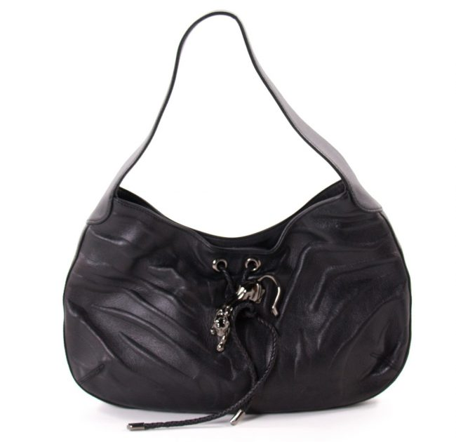 Cartier Black Leather Handbag