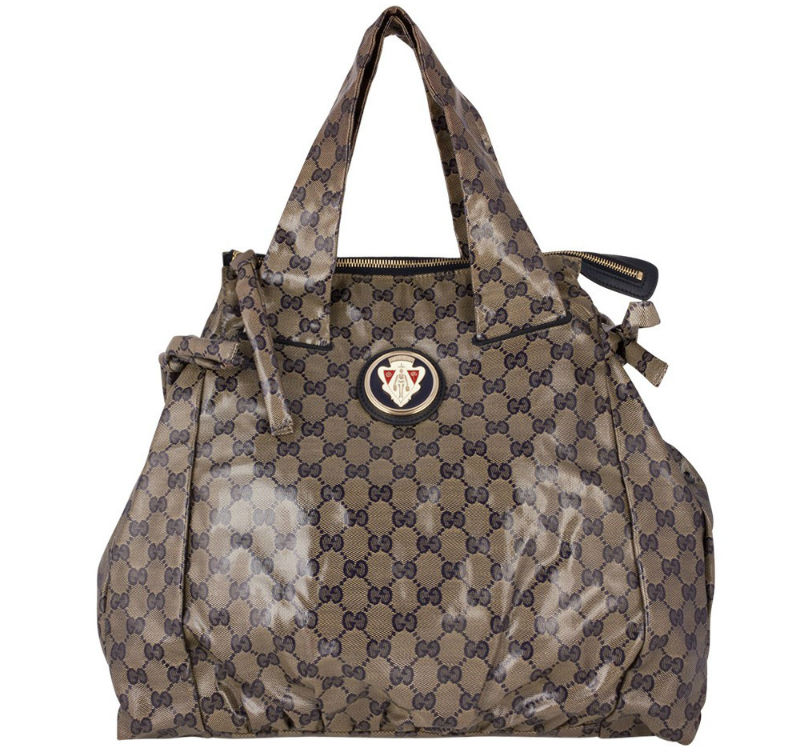 Gucci GG Crystal Coated Canvas Large Hysteria Tote