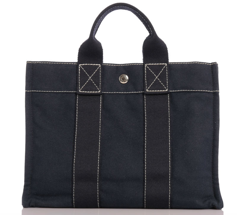 Hermes Navy Blue Fourre-Tout Tote