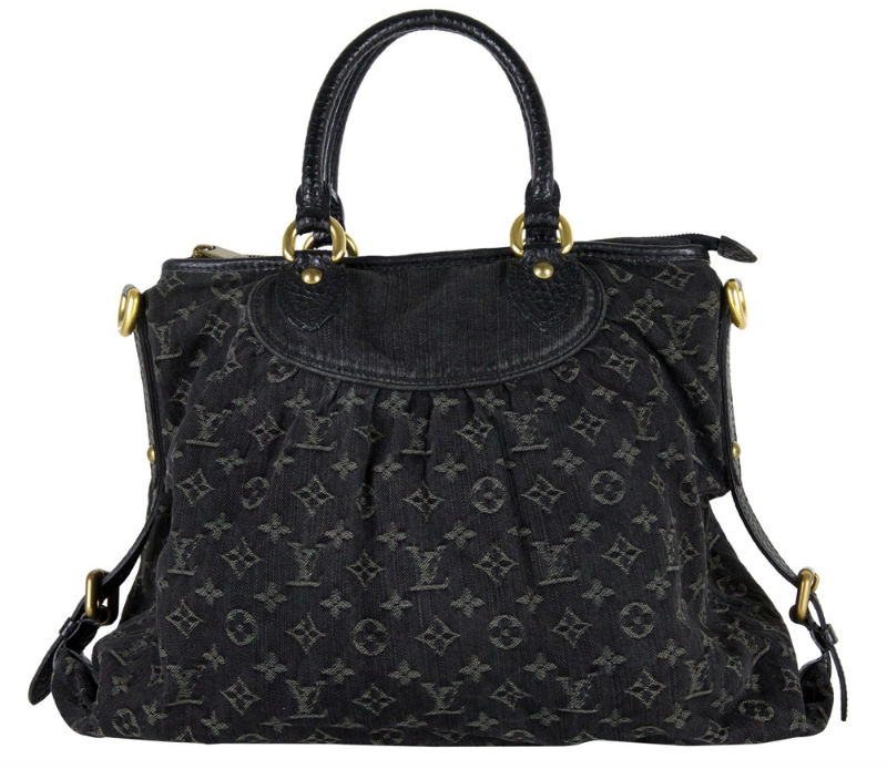 1. Louis Vuitton Black Monogram Denim Neo Cabby Gm Handbag