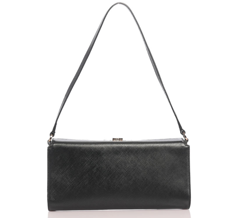 Salvatore Ferragamo Black Calfskin Clutch