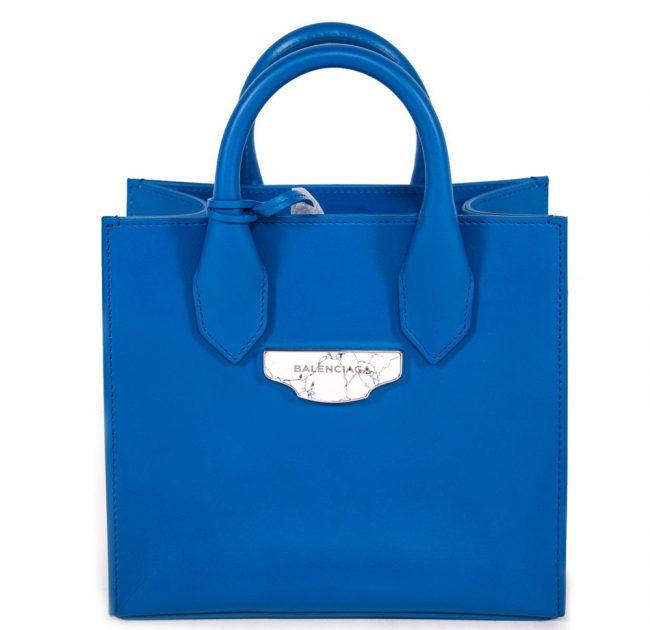 Balenciaga Blue Tote Handbag