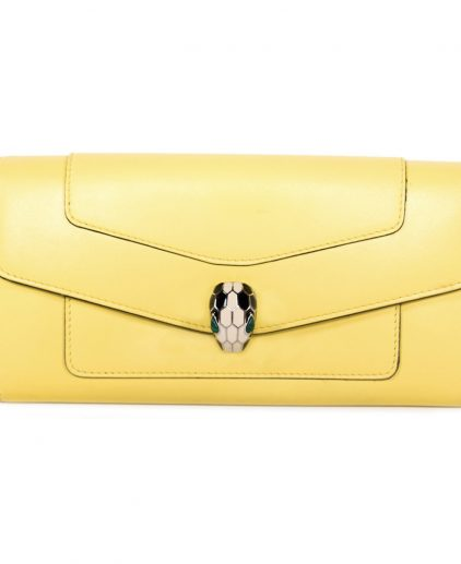 Bvlgari Serpenti Forever Yellow Wallet