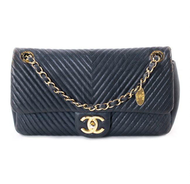 Chanel Navy Blue Flap handbag
