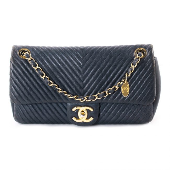 Chanel Navy Blue Flap handbag