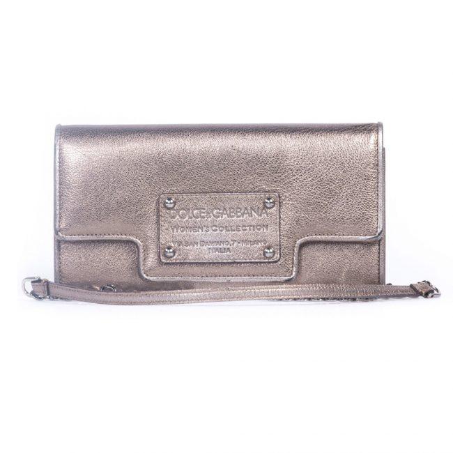 Dolce Gabbana Silver Shoulder Handbag