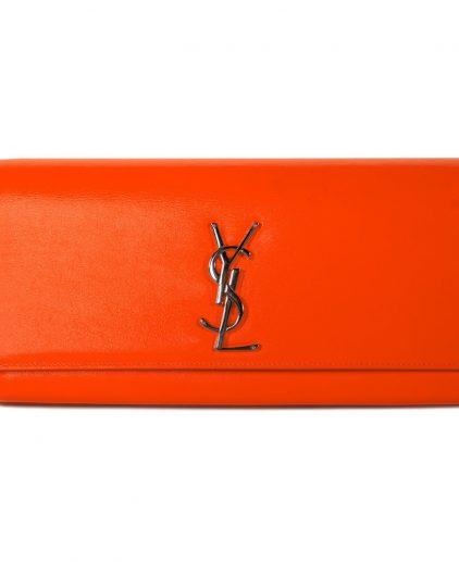 Saint Laurent Orange Clutch