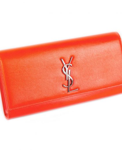 Saint Laurent Orange Clutch