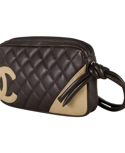 Chanel Black Beige Mini Cambon Bowler Tote Handbag