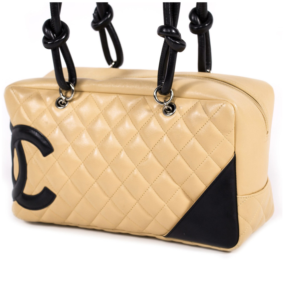 b58460a794f9 Chanel Beige Black Handbag | Stanford Center for Opportunity Policy ...