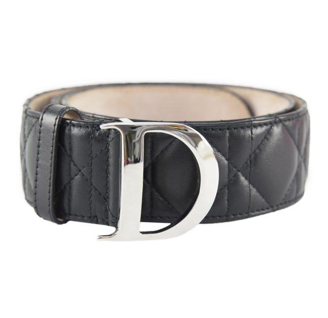 Dior Black Cannage Women's Belt