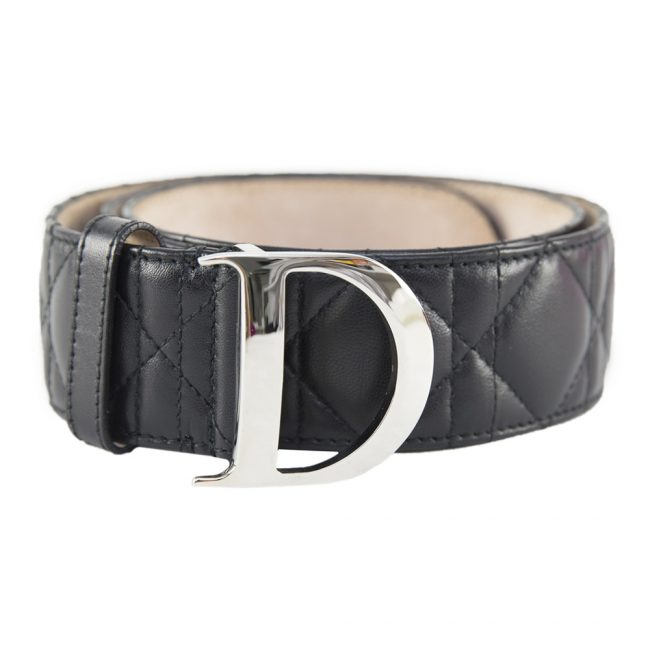 Dior Black Cannage Women's Belt