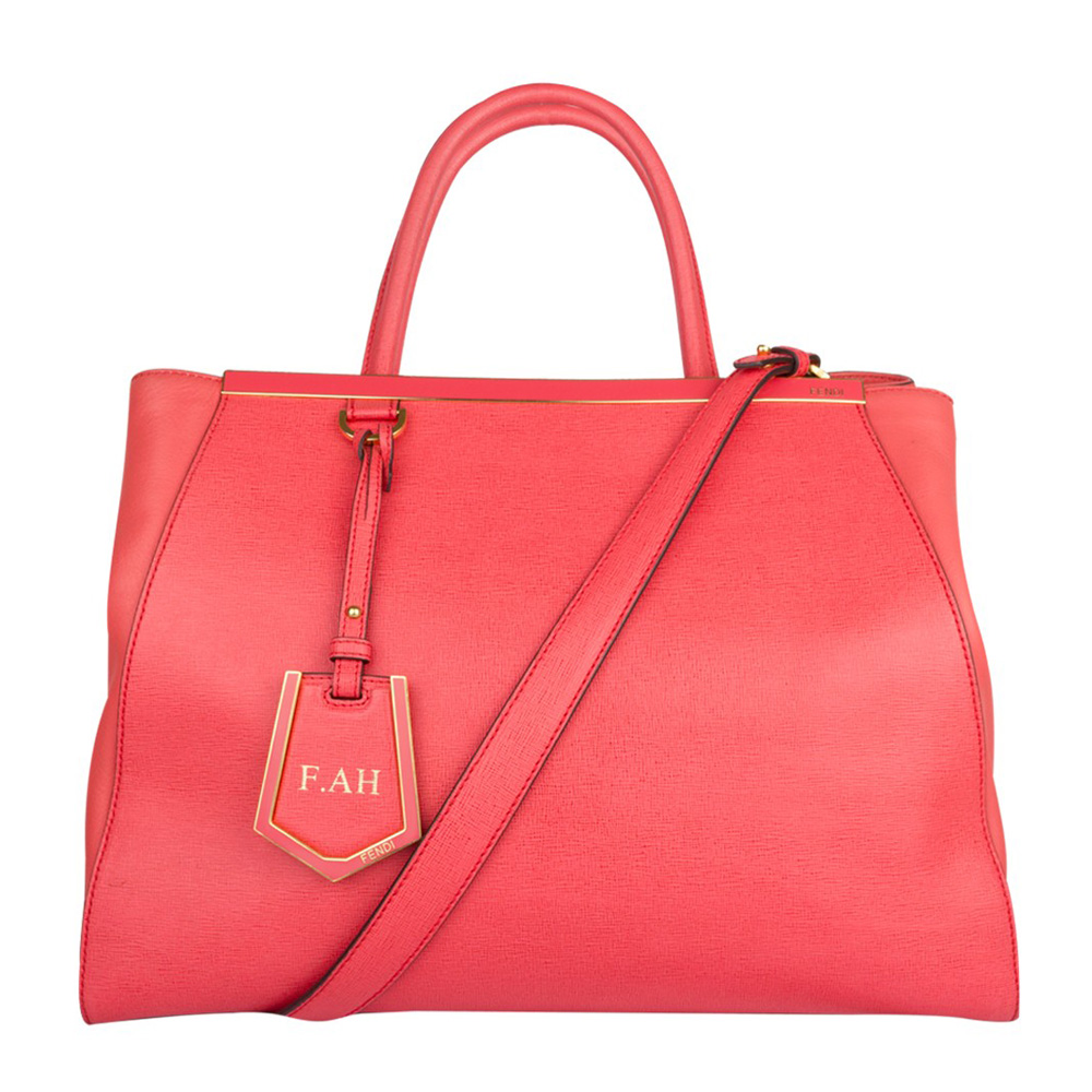 2a94c4c8ddd0 ... coupon code for fendi red orange saffiano leather 2jours tote handbag  350df eab1f