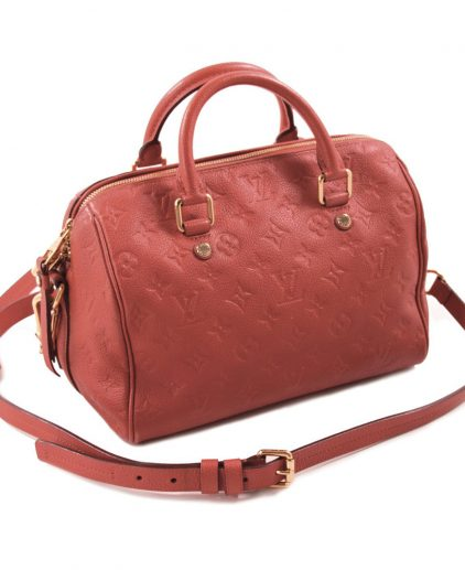 Louis Vuitton Orange Empreinte Leather Speedy 25