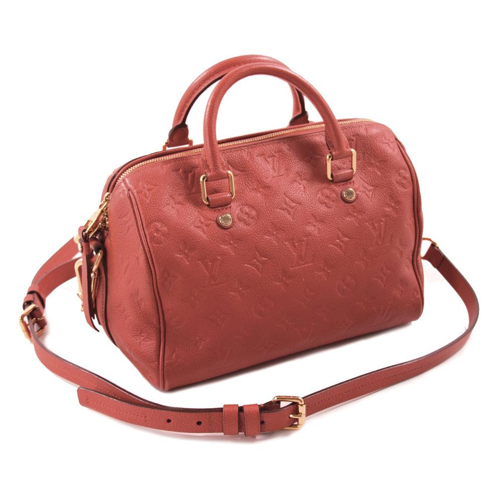 Louis Vuitton Orange Empreinte Leather Speedy 25
