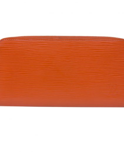 Louis Vuitton Orange Epi Leather Zippy Long Wallet