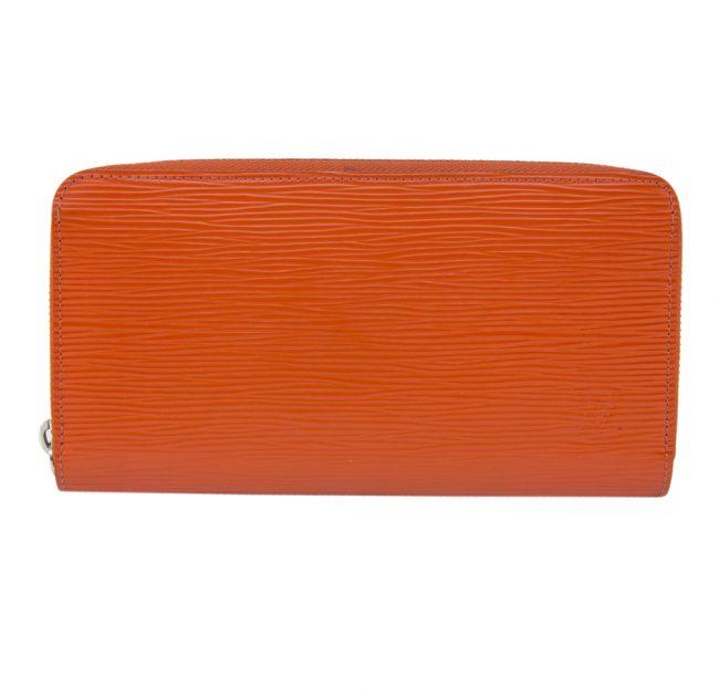 Louis Vuitton Orange Epi Leather Zippy Long Wallet