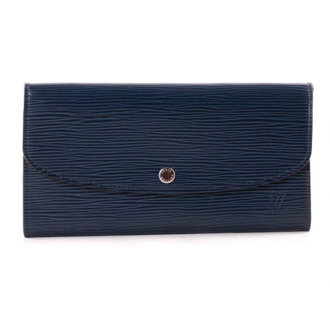 Louis Vuitton Blue Epi Leather Emilie Wallet