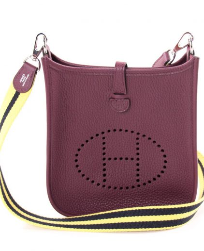 Hermes Bordeaux Clemency Leather Evelyne 16 Tpm Bag