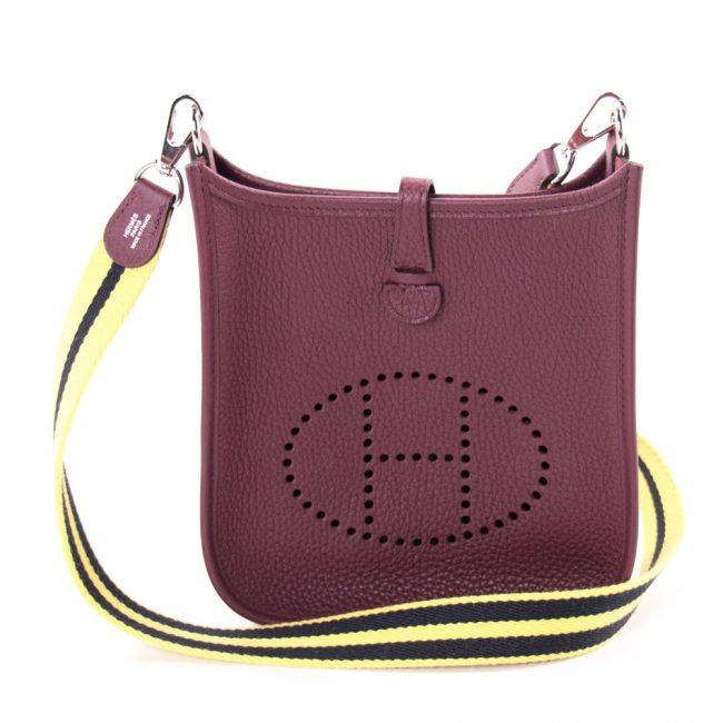 Hermes Bordeaux Clemency Leather Evelyne 16 Tpm Bag