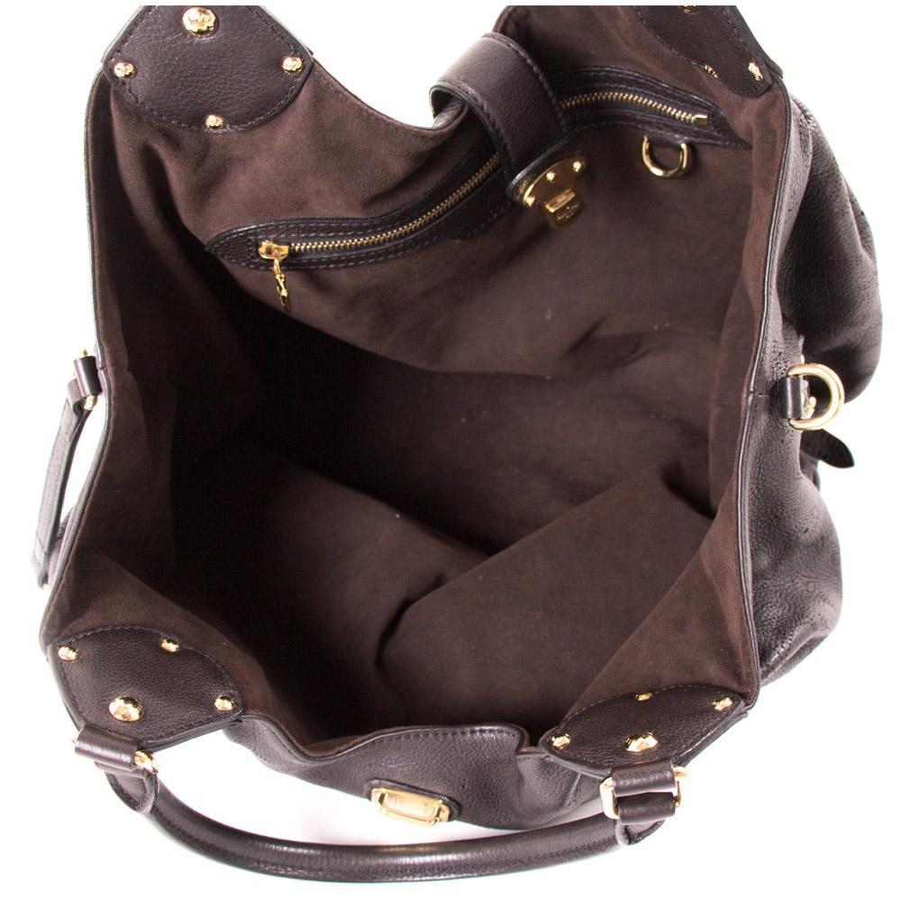 047e81694f09 Louis Vuitton Brown Monogram Mahina Leather Large Bag