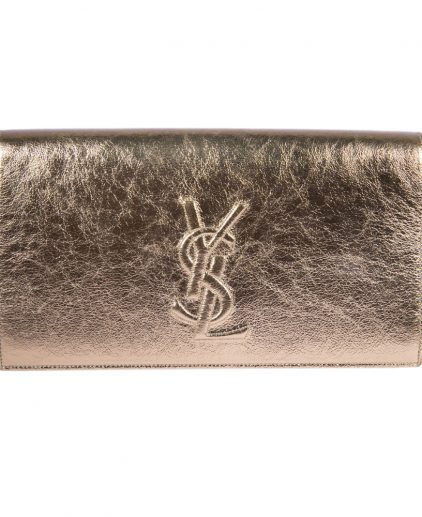 Saint Laurent Metallic Gold Belle De Jour Clutch