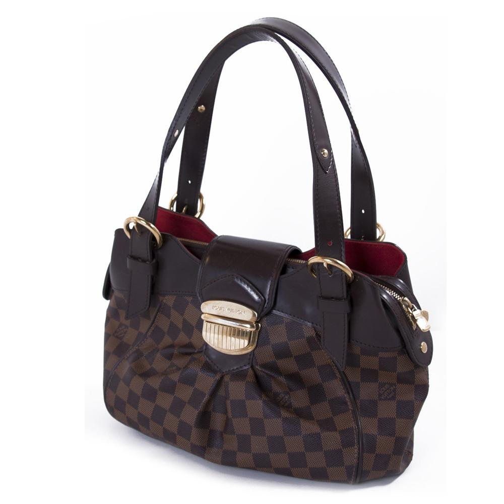 a4061a95a1 Louis Vuitton Damier Ebene Canvas Sistina PM Handbag