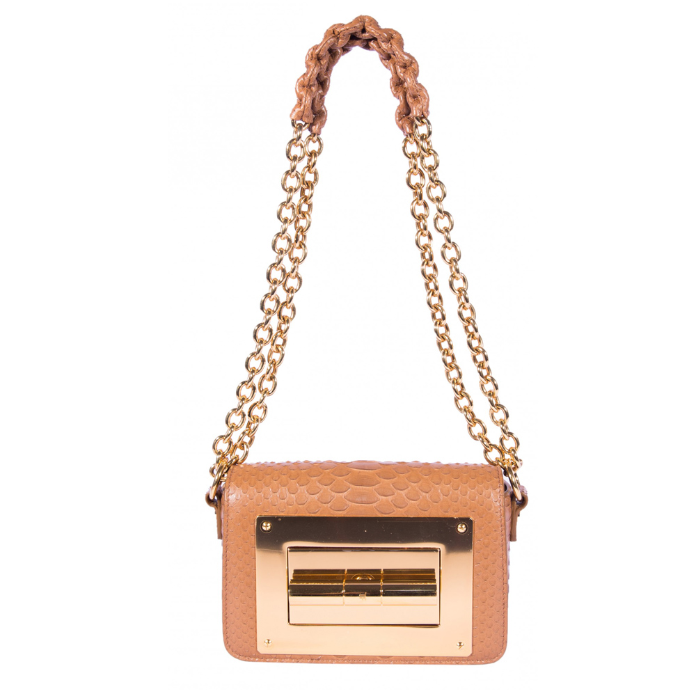 e761dde509f4 Tom Ford Light Brown Exotic Leather Small Natalia Shoulder Bag