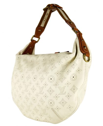 Louis Vuitton Limited Edition Perforated White Leather Onatah Hobo