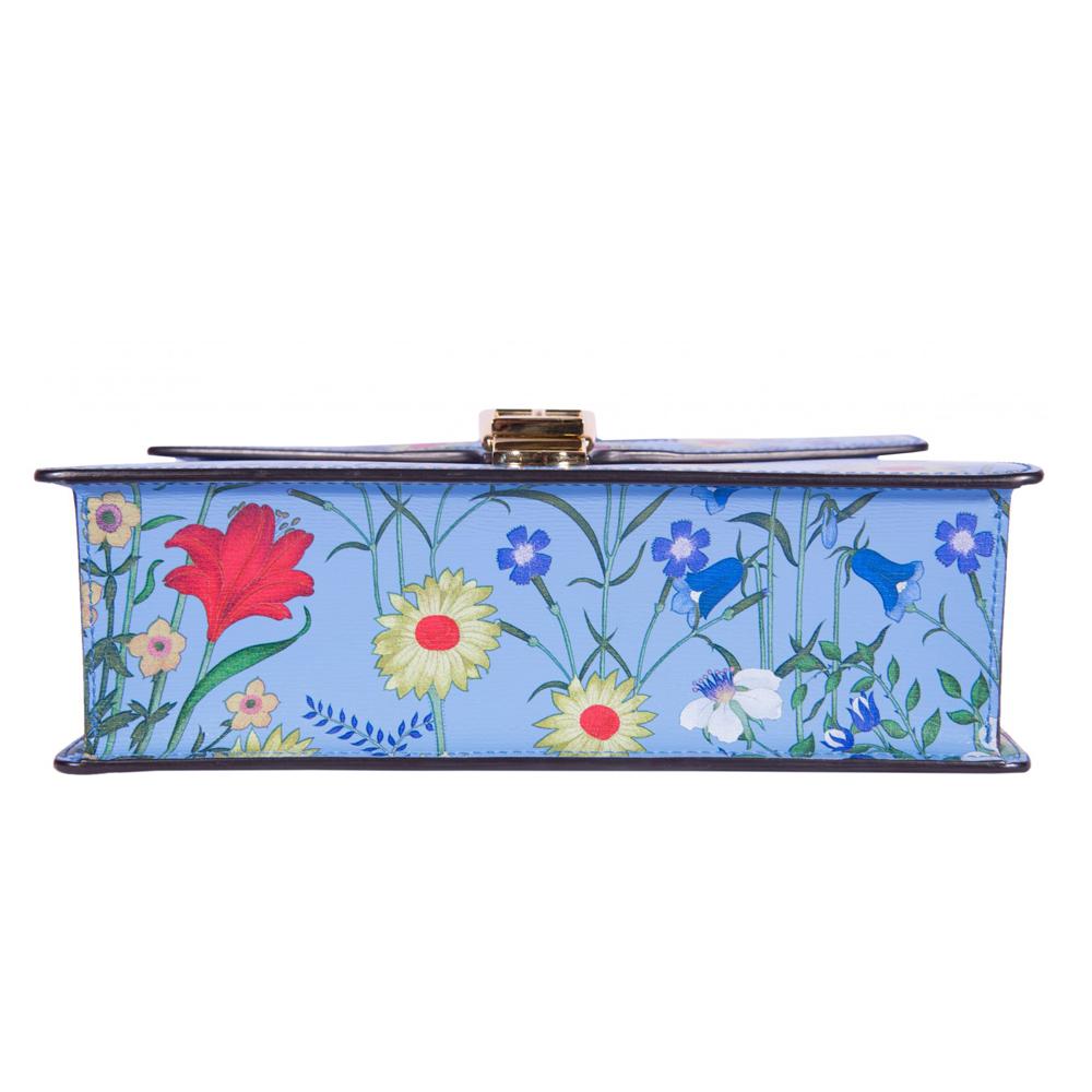 ceca6fc359a Gucci Blue Small Sylvie Shoulder Handbag