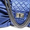 Chanel Blue Satin Large Bow Handbag