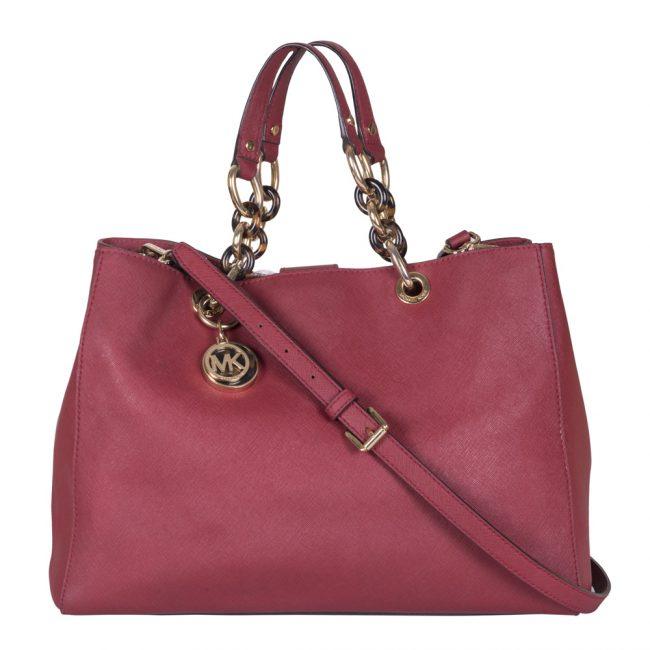 Michael Kors Ruby Red Cynthia Medium Handbag