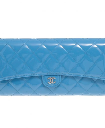 Chanel Blue Flap Wallet And Organiser