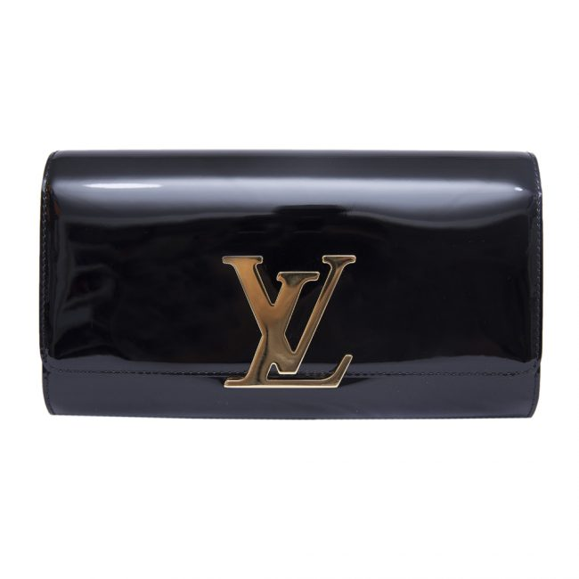 Louis Vuitton Black Louise Evening Clutch