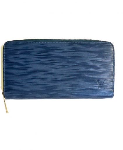 Louis Vuitton Blue Epi Leather Zippy Wallet