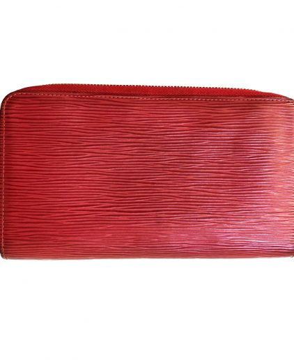 Louis Vuitton Red Epi Leather Zippy Wallet