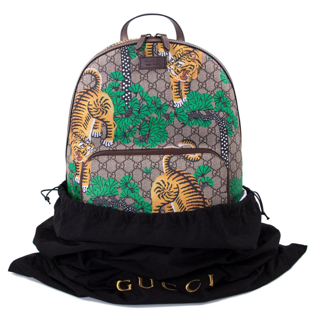 95a758743b80 Gucci Bengal Tiger GG Supreme Backpack