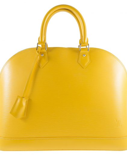 Louis Vuitton Citron Epi Leather Alma GM Handbag