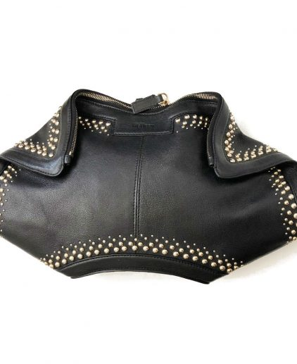 Alexander McQueen Medium Black Faithful De Manta Clutch