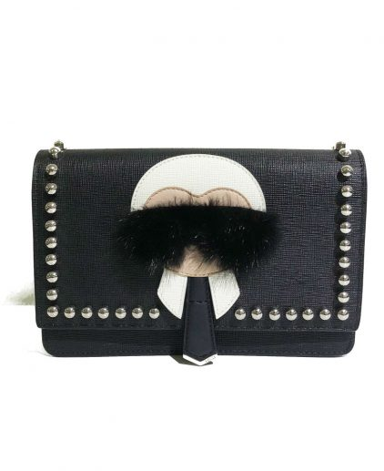 Fendi Black Karl Wallet On Chain