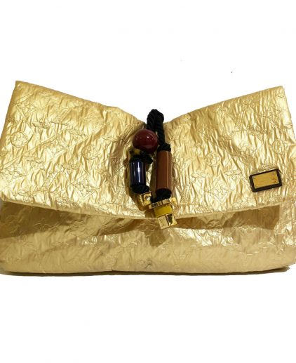 Louis Vuitton Gold Monogram Limelight African Queen Clutch