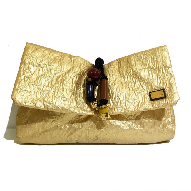 Louis Vuitton Gold Monogram Limelight African Queen Clutch