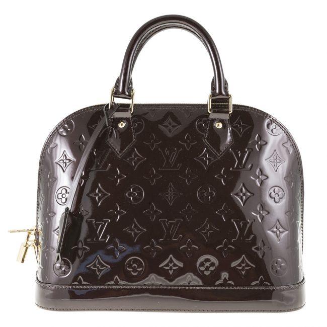 Louis Vuitton Amarante Monogram Vernis Leather Alma PM