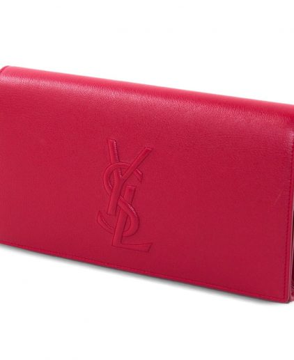 Saint Laurent Red Belle De Jour Clutch