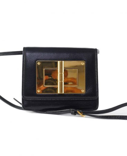 Tom Ford Black Mini Natalia Shoulder Bag