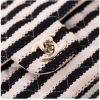 Chanel Black White Striped Coco Sailor Shoulder Bag